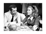 Catherine Deneuve and Roger Vadim Having a Cup of Tea in 1960