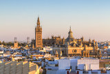 Spain  Andalusia  Seville High Angle View of the Cathedral with the Giralda Tower