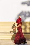Spain  Andalusia  Seville Flamenco Dancer Performing Outdoors