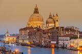 Santa Maria Della Salute Church and Grand Canal at Sunset  Venice  Veneto  Italy