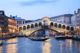 Italy  Venice Grand Canal and Rialto Bridge