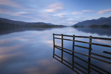 Tranquil Derwent Water at Dusk  Lake District  Cumbria  England Autumn (October)