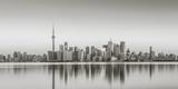 Canada, Ontario, Toronto, View of Cn Tower and City Skyline Papier Photo par Jane Sweeney