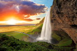 Waterfall  Iceland - Seljalandsfoss