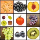 Collage of Fruit in Squares
