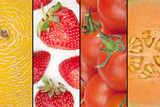 Collage of Four Seasonal Fruits