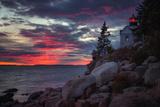 Moody Sunset at Bass Harbor  Maine Coast