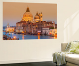 Santa Maria Della Salute Church and Grand Canal at Sunset  Venice  Veneto  Italy