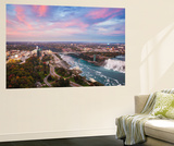 View over Victoria Park Towards Rainbow Bridge and the American Falls  Niagara Falls