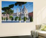 Trajan's Column in Trajan's Forum and Church of Santa Maria Di Loreto  Rome  Lazio