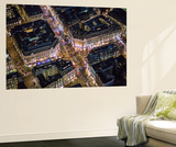 Night Aerial View of Oxford Circus  London  England