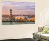 Italy  Veneto  Venice High Angle View of the City at Sunset