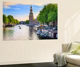 Netherlands  North Holland  Amsterdam Montelbaan Tower at Oude Schans
