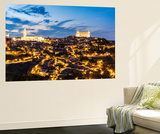 Spain  Castile–La Mancha  Toledo City with the Cathedral and the Alcazar at Dusk