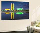 National Congress at Dusk  Brasilia  Federal District  Brazil