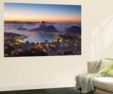 View of Sugarloaf Mountain and Botafogo Bay at Dawn  Rio De Janeiro  Brazil