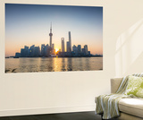 Pudong Skyline across the Huangpu River  the Bund  Shanghai  China