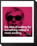 Délicieuse attente Reproduction montée et encadrée par Andy Warhol
