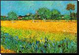 Vue d'Arles aux iris Reproduction montée et encadrée par Vincent Van Gogh
