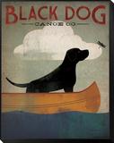 Black Dog Canoe Reproduction montée et encadrée par Ryan Fowler