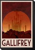 Gallifrey Retro Travel Poster