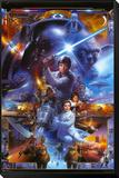 Star Wars - Saga Collage Reproduction montée et encadrée