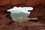 Pikes Peak through Rock Window