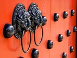 Traditional Chinese Decorated with Door Knockers in Taiwan