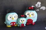 Owl Family Mickey Vacation Papier Photo