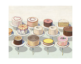 Cakes, 1963 Reproduction d'art par Wayne Thiebaud