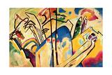 Composition No. 4, 1911 Reproduction d'art par Wassily Kandinsky