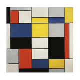 Large Composition with Black  Red  Grey  Yellow and Blue  1919-1920