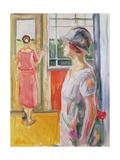 Two Women on a Veranda  1923-24