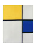 Composition No1  with Yellow and Blue  1929