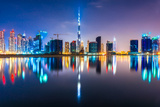 Dubai Skyline at Dusk  Uae