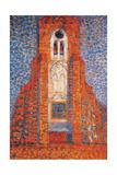 Sun  Church in Zeeland; Zoutelande Church Facade