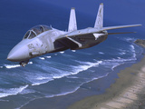 F-14 Tomcat Flying over San Diego  California