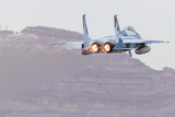 An Aggressor F-15C Eagle of the US Air Force Taking Off
