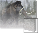 A Woolly Mammoth in Cold Weather of the Pleistocene Epoch