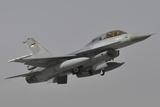 A Royal Jordanian Air Force F-16Am Aircraft Taking Off