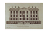 West Front of Chatsworth  from 'Vitruvius Britannicus or The British Architect'