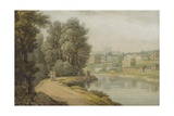 Exeter as Seen from the River  1816