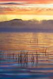 USA  New York  Adirondack Mountains Racquette Lake at Sunrise