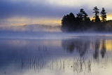 USA  New York  Adirondack Mountains Racquette Lake at Sunrise
