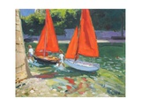 Girls with Sail Boats Looe  2014