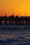 Santa Monica Pier at Sunset  Santa Monica  Los Angeles  California