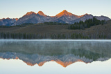Sunrise at Sawtooth Mts  Little Redfish Lake  Stanley  Idaho