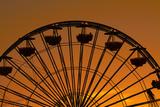 Los Angeles  Santa Monica  Ferris Wheel at Sunset  Santa Monica Pier