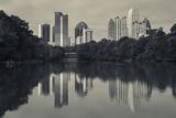 Georgia  Atlanta  City Skyline from Piedmont Park