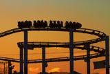 Los Angeles  Santa Monica  Roller Coaster at Sunset  Pacific Park